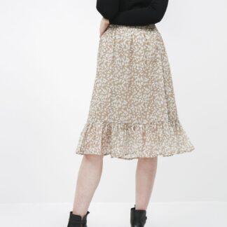 Jacqueline de Yong béžová vzorovaná sukně Rufus