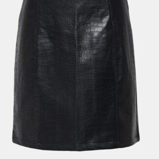 Jacqueline de Yong černé dámská sukně s krokodýlím vzorem
