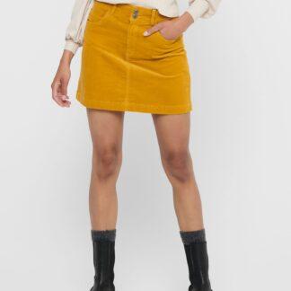 Jacqueline de Yong žlutá manšestrová dámská sukně
