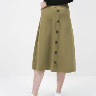 Jacqueline de Yong khaki midi sukně Bellis
