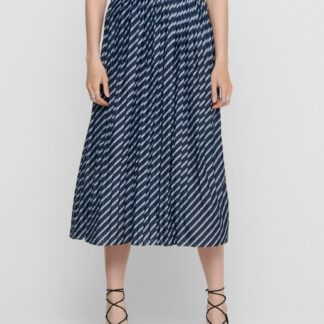 Jacqueline de Yong modrá vzorovaná dámská midi sukně