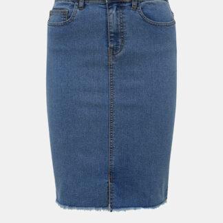 Noisy May modrá džínová pouzdrová sukně Lexi