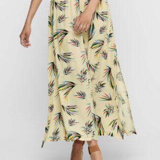Jacqueline de Yong světle žlutá vzorovaná maxi sukně Tianna