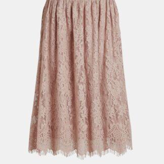Růžová krajková sukně VILA Vanira