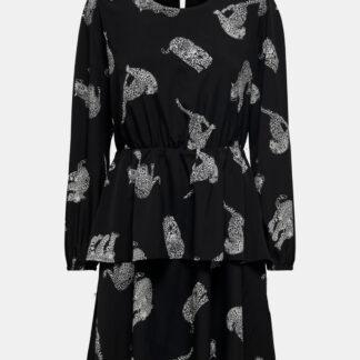 Černé vzorované šaty ONLY Tenna