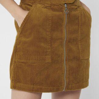 Jacqueline de Yong hnědá manšetrová sukně Kira