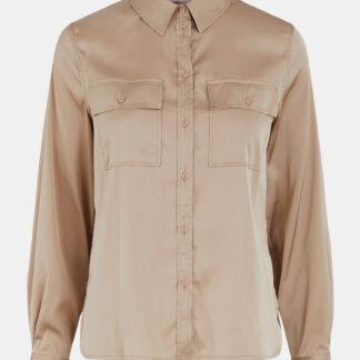 Béžová saténová košile Pieces