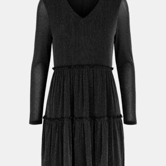 Černé třpytivé šaty Pieces