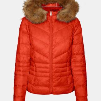 Červená zimní prošívaná bunda VERO MODA