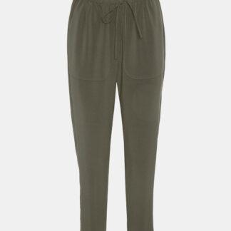 Khaki zkrácené kalhoty VERO MODA