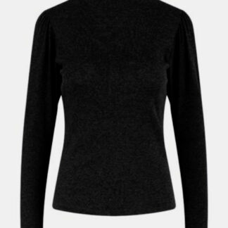 Černé tričko se stojáčkem Pieces