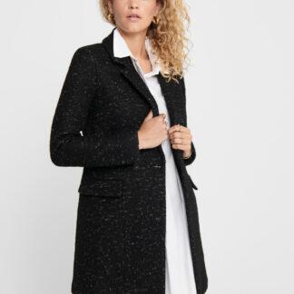 Černý vlněný kabát ONLY New