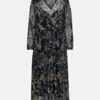 Černé vzorované šaty ONLY Nana