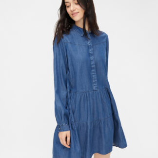 Modré košilové šaty Pieces