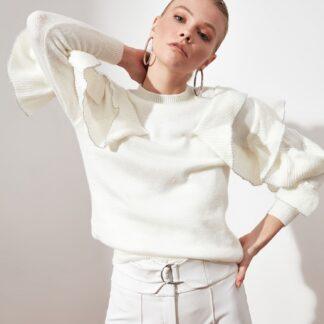 Bílý dámský svetr Trendyol