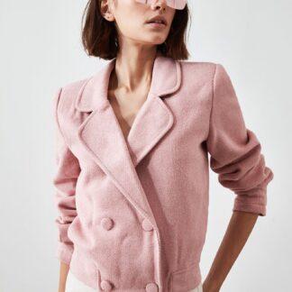 Růžová dámská krátká bunda Trendyol
