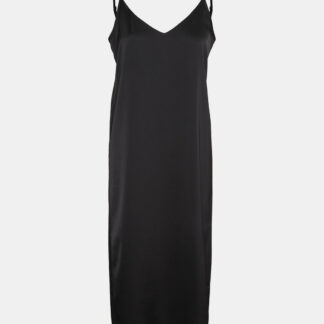 Noisy May černé saténové midi šaty