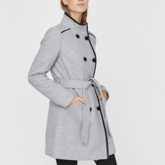 Světle šedý kabát VERO MODA