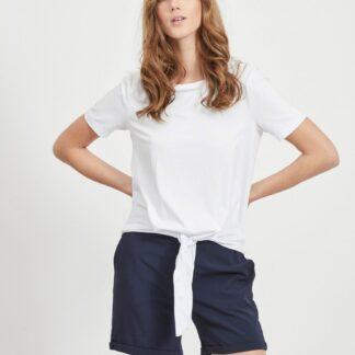 .OBJECT bílé dámské tričko se zavazováním