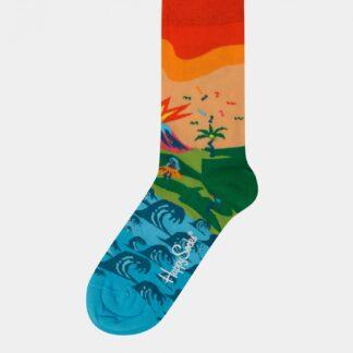 Oranžovo-modré dámské ponožky Happy Socks Tropical Island
