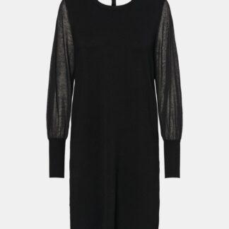 Černé svetrové šaty VERO MODA Bellissimo