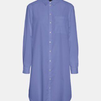 Modrá dlouhá košile VERO MODA Hella