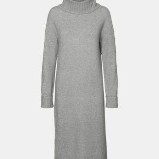 Šedé svetrové šaty VERO MODA Gaiva