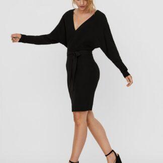 Černé svetrové šaty VERO MODA Rem