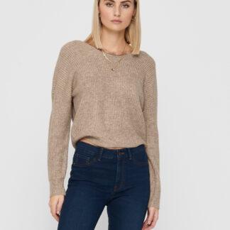 Béžový svetr s krajkou na zádech ONLY