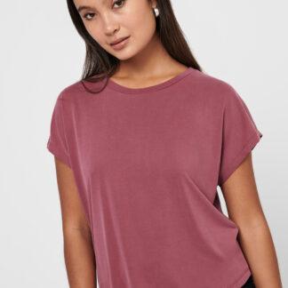 Růžové volné tričko ONLY