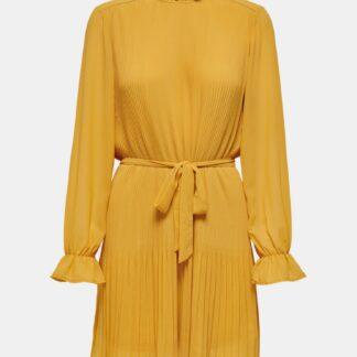 Žluté šaty se stojáčkem Jacqueline de Yong