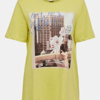 Žluté tričko s potiskem Jacqueline de Yong