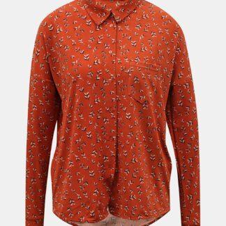 Oranžová vzorovaná košile VERO MODA