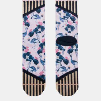 Růžovo-modré dámské ponožky XPOOOS