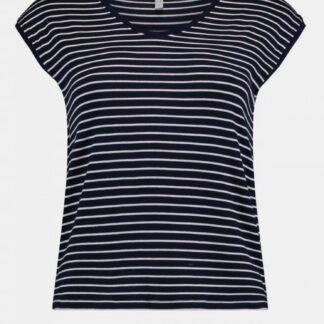 Černé dámské pruhované tričko Haily´s