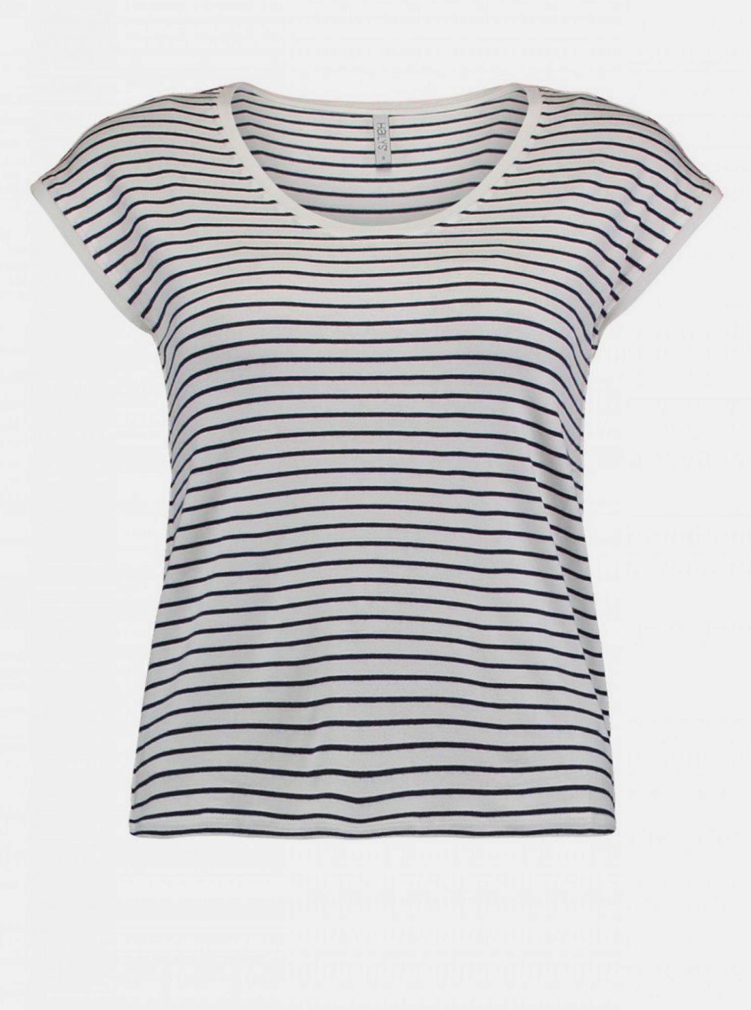 Černo-bílé dámské pruhované tričko Haily´s