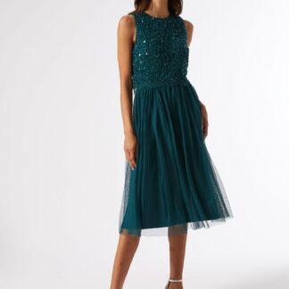 Zelené šaty s flitrovým topem Dorothy Perkins