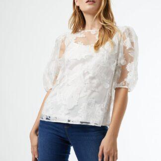 Bílá květovaná halenka Dorothy Perkins