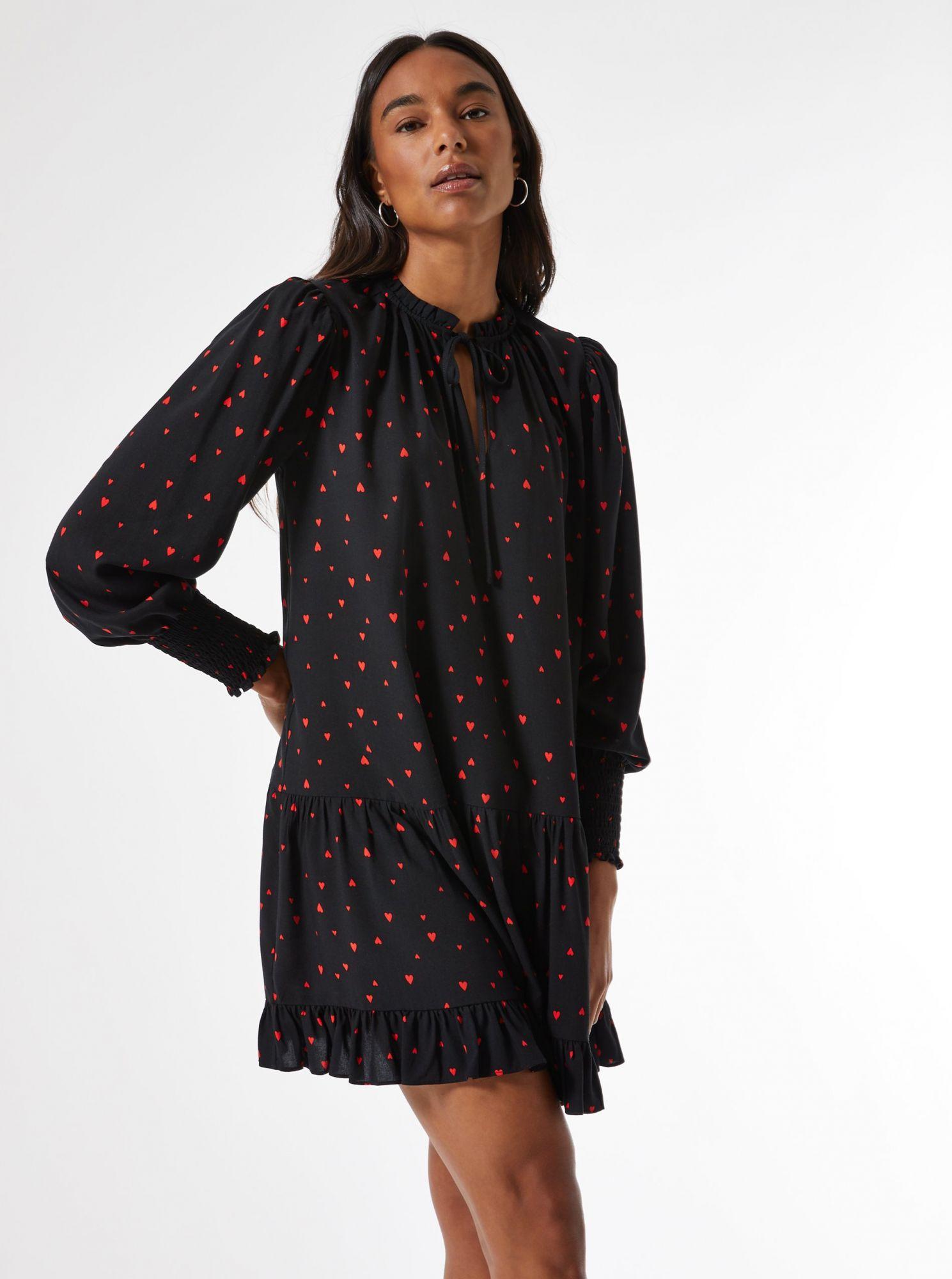 Černé vzorované volné šaty Dorothy Perkins