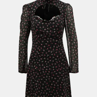 Tally Weijl černé květované šaty