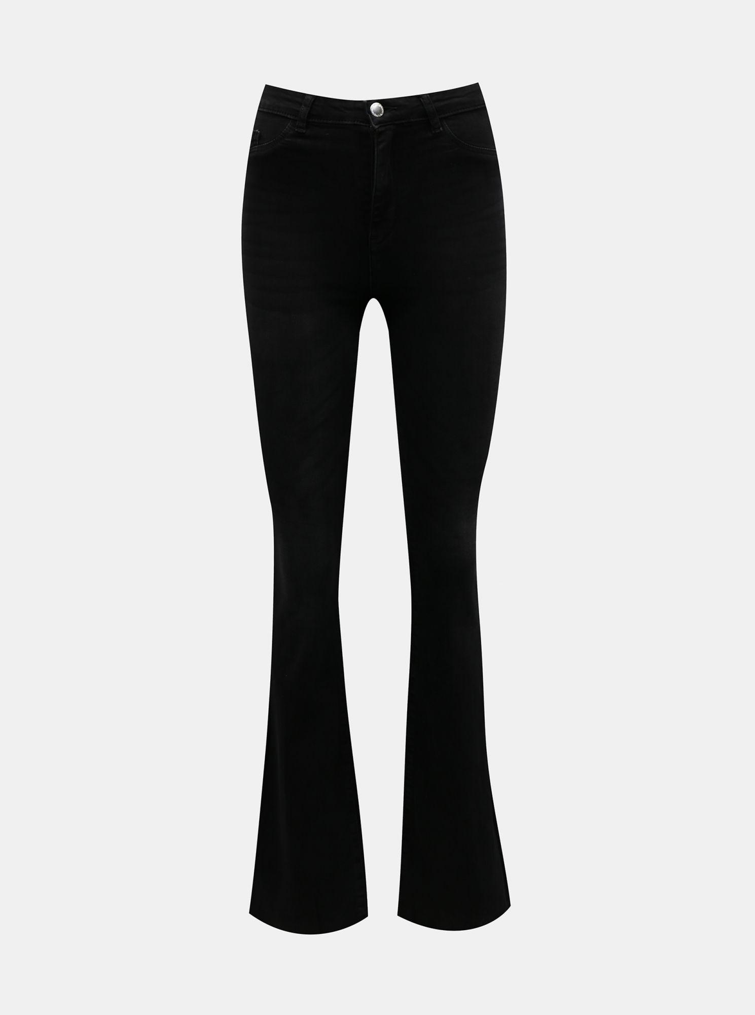 Černé flared fit džíny TALLY WEiJL