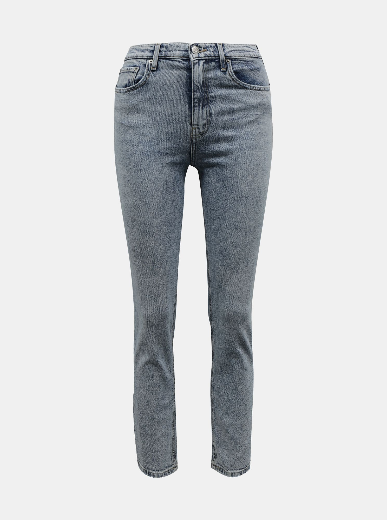 Světle šedé straight fit džíny TALLY WEiJL