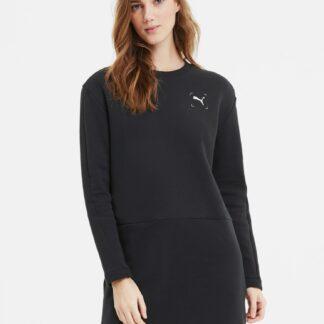 Černé mikinové šaty Puma