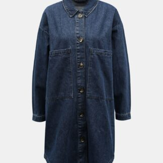 Modrá dlouhá džínová košile Jacqueline de Yong