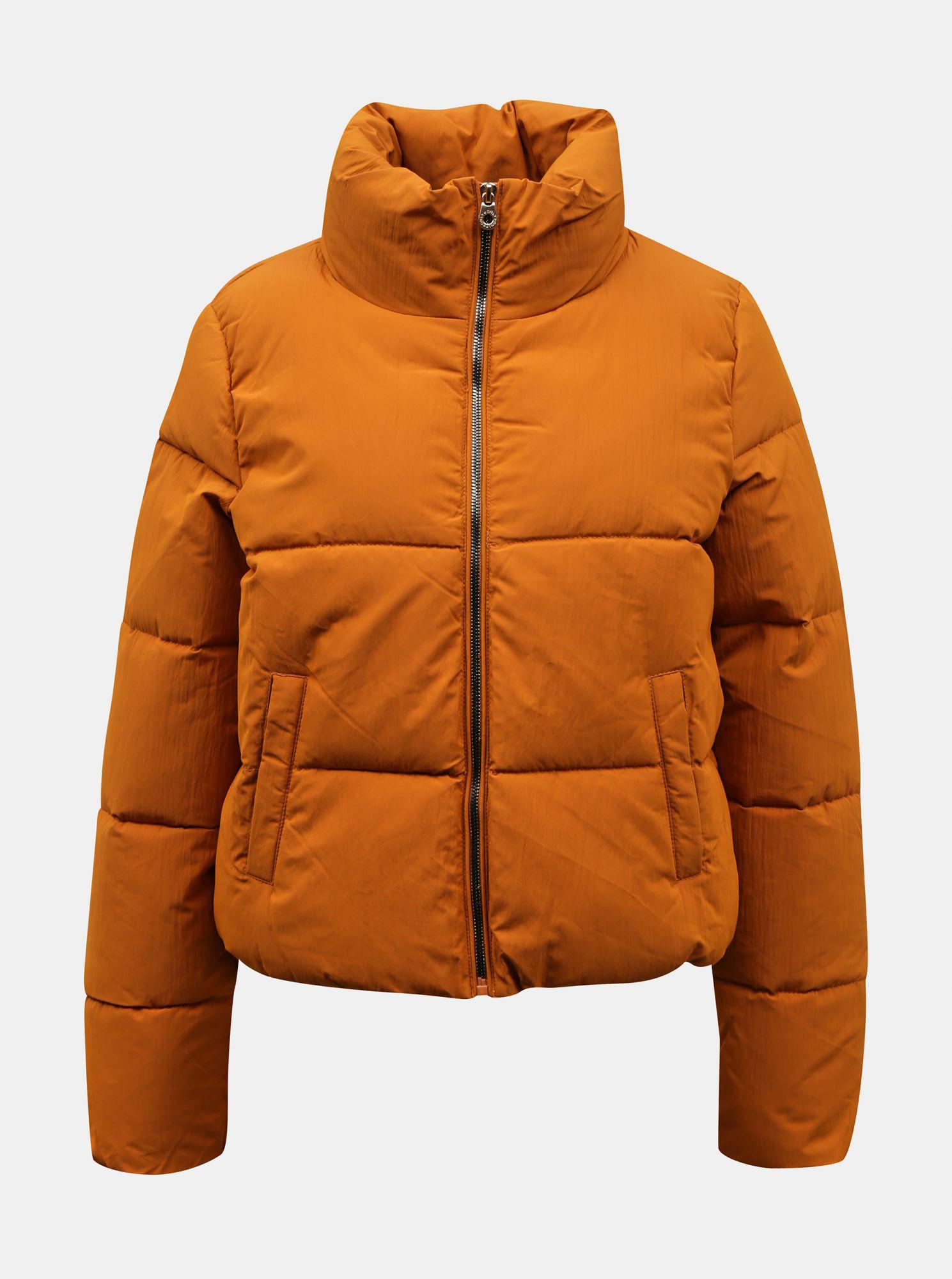 Oranžová zimní prošívaná bunda ONLY Dolly