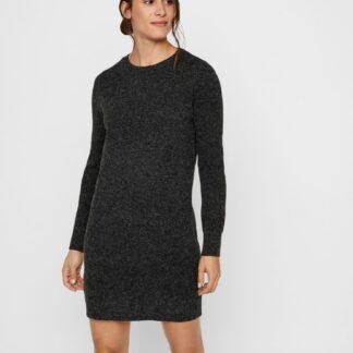 Černé svetrové šaty VERO MODA Doffy