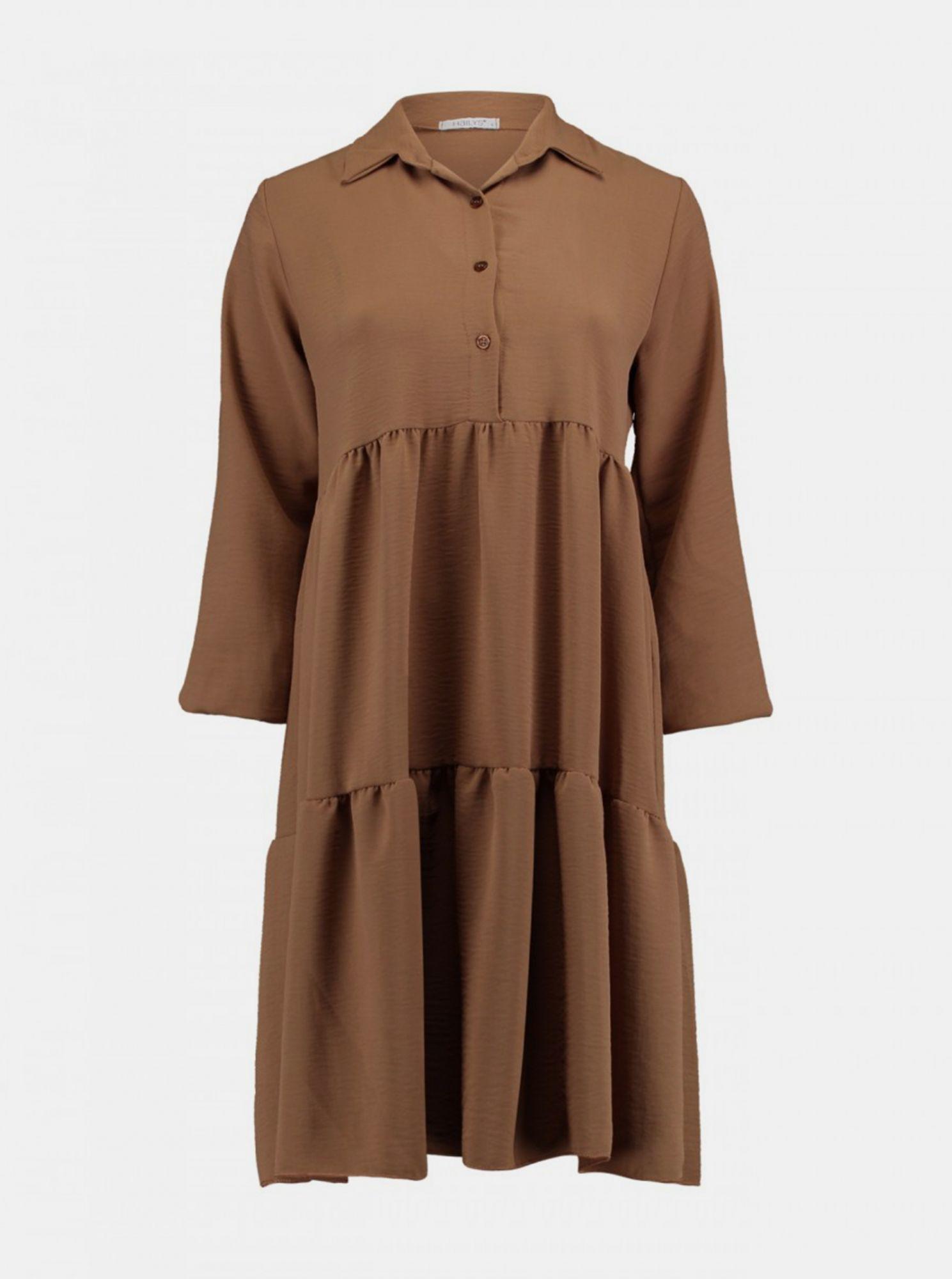 Hnědé košilové šaty Haily´s