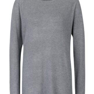Šedý svetr s prodlouženým zadním dílem ONLY Mila