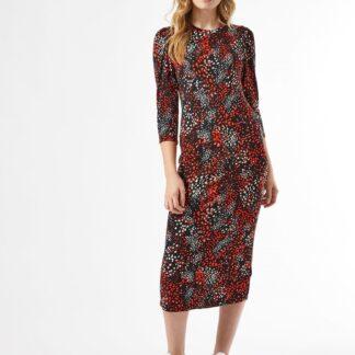 Červeno-černé vzorované šaty Dorothy Perkins