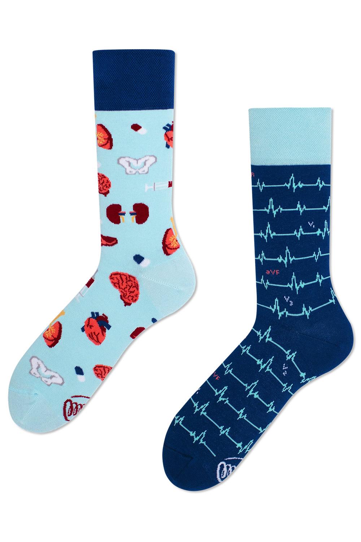 Many Mornings modré ponožky DR Sock